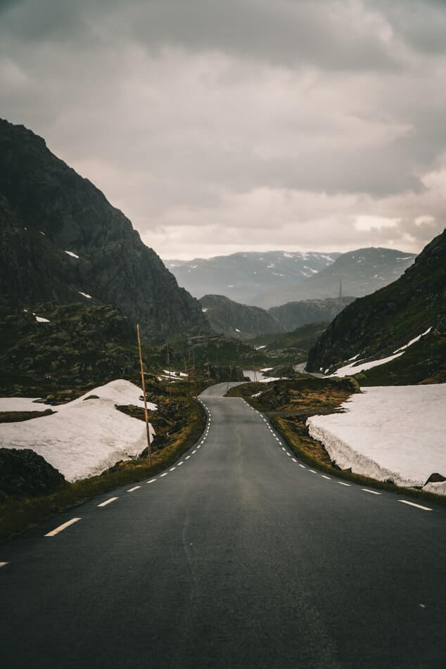 image of road in norway